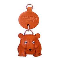 Брелок на ключи Vanca Медведь 3D из натуральной кожи
