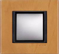 Рамка 1 пост. Unica Class кожа Сахара MGU68.002.7P1