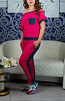 """Модный женский костюм """"Жоржетта"""" блуза и брюки, до 50 размера"""