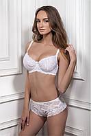 Шикарный белый кружевной мягкий бюстгальтер LUNA 1401/14 Jasmine Lingerie
