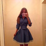 Женское стильное платье (турецкий джинс)