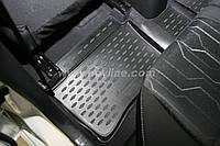 Полиуретановыe 3D ковры в салон LAND ROVER Defender 90 c 2007-✓ 3-й ряд✓цвет:черный ✓ производитель NovLine