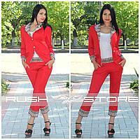 """Женский костюм-двойка со вставками """"Burberry"""""""