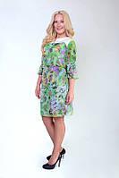Нежное шифоновое платье с вышивкой