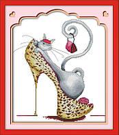 Набор для вышивки крестиком Модная кошка (1).