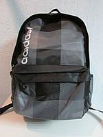 Рюкзак Adidas черный в серую клетку 658 код 364А