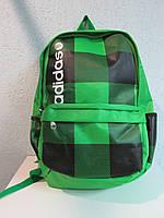 Рюкзак Adidas салатовый в серую клетку 658 код 365А