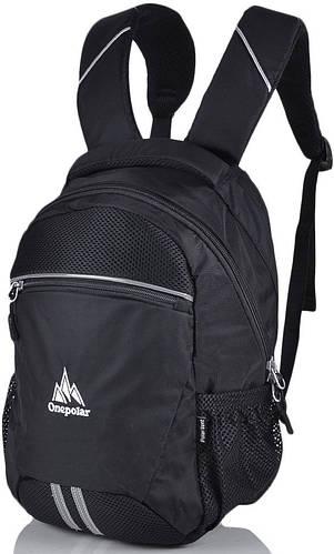 Детский рюкзак для школы 20 л. Onepolar W1700-black чёрный