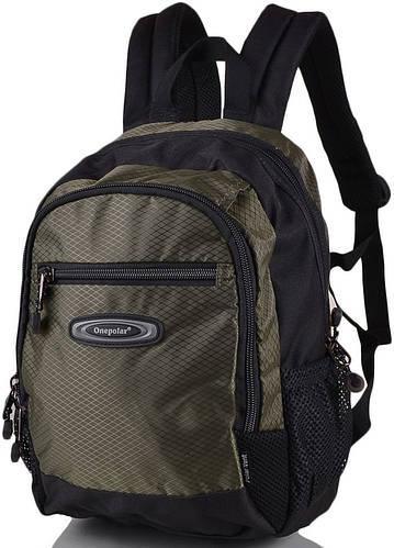Детский прочный школьный рюкзак 20 л. Onepolar W1283-green серый