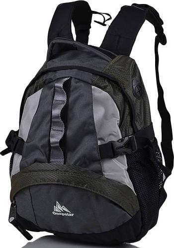 Рюкзак детский ONEPOLAR (ВАНПОЛАР) W1013-green серый/зеленый