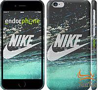 "Тонкий пластиковый чехол на iPhone 6 "" Nike water """