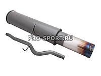 Прямоточный глушитель ВАЗ 2110 с обводной трубой и регулировкой звука выхлопа
