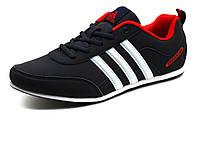Кроссовки мужские Adidas Traxion, PU кожа, темно-синие, фото 1