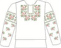 Заготовка вышивки бисером. Детская блузка на льне СВДБ-1