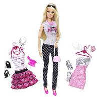 """Кукла Барби """"Модница""""  Большой гардероб / Barbie Doll and Fashion Barbie Doll Giftset (на шарнирах)"""