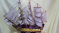 Модель деревянного парусника размер 80*70