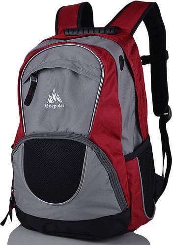Городской эксклюзивный рюкзак 25 л. Onepolar W1674-red красный