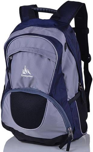 Городской мужской рюкзак 25 л. Onepolar W1674-navy синий