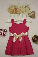 Платье детское Малина в горошек