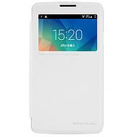 Кожаный чехол книжка Nillkin Sparkle для LG L60 Dual X135 белый