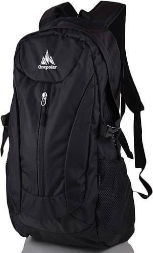 Спортивный вместительный рюкзак стильного дизайна 20 л. Onepolar W1802-black чёрный