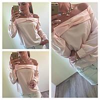 Нежная женская блузка из креп шифона