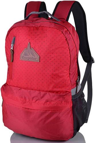Яркий женский рюкзак с отделением для ноутбука ONEPOLAR (ВАНПОЛАР) W1766-red красный