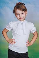 Блуза для девочки трикотажная белая, фото 1