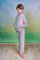 Спортивный костюм трикотаж детский светло-серый, фото 1