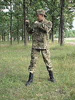 Костюм детский Киборг для мальчиков цвет камуфляж Пиксель копия военного костюма