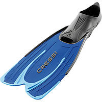 Короткие ласты для плавания Cressi Sub Agua; синие; размеры 31-32; 33-34