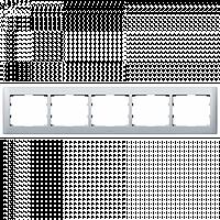 Рамка 5 Постовая Горизонтальная Алюминий металлик Legrand Galea Life (771305)