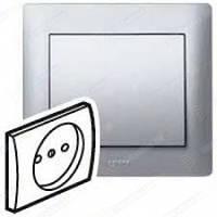 Лицевая панель Розетки электрической 2К 16А (арт.775916) Алюминий Legrand Galea Life(771326)