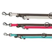 Trixie Softline Elegance Adjustable Leash XS поводок-перестежка двойной для собак 2.3м, 10мм (1153)