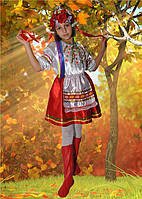 Карнавальный национальный костюм Украинка 2 для девочек