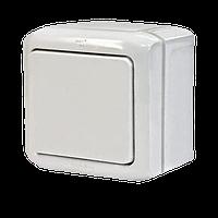 Выключатель 1-клавишный IP44 10A Legrand Quteo белый (782300)