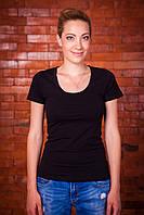 Стильная женская футболка черная 9500-0002