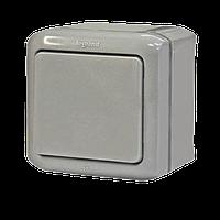 Выключатель 1-клавишный IP44 10A серый Legrand Quteo (782330)