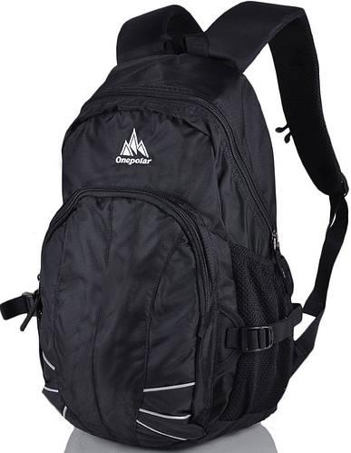 Мужской городской рюкзак на каждый день 22 л. Onepolar (Ванполар) W1570-black чёрный