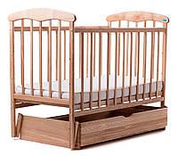 Детская кроватка Наталка с маятником и ящиком на деревянных направляющих