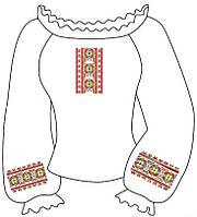 Заготовка вышиванки для девочки 6-12 лет Геометрия