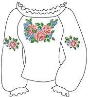 Заготовка вишивки под бисер для девочки 6-12 лет