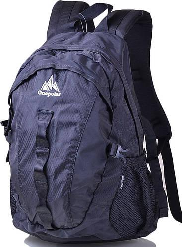 Стильный, повседневный, городской рюкзак 20 л. Onepolar  W1278-black черный