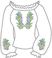 Заготовка вишиванки под нитки для девочки 6-12 лет