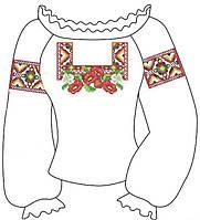 Заготовка для вишиванки для девочки 2-5 лет