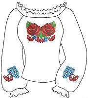 Заготовка вышиванки на габардине для девочки 2-5 лет