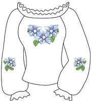 Заготовка вышиванки для девочки 2-5 лет
