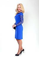 Элегантное платье с гипюром