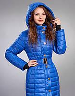 Зимняя женская молодежная куртка, цвет яркий синий (электрик)
