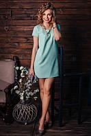 Стильное прямое платье с рукавом